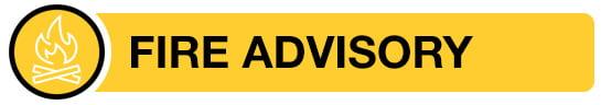 Fire Advisory banner