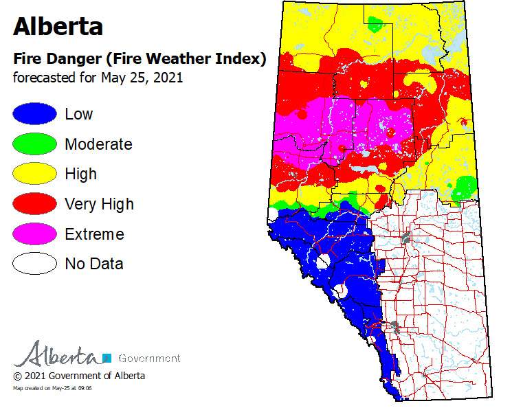 may 25 wildfire danger